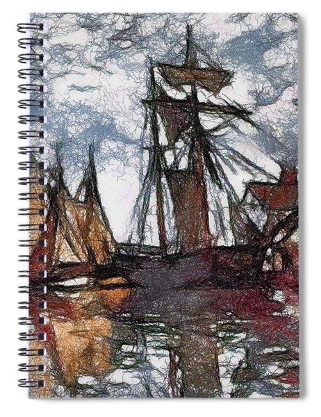 Scratch Board Monet Spiral Notebook