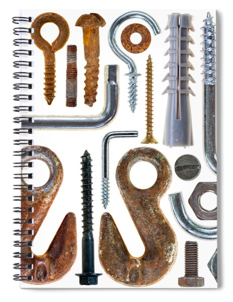 Screws, Nut Bolts, Nails And Hooks Spiral Notebook