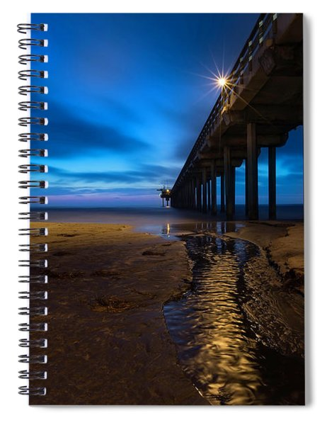 Scripps Pier Blue Hour Spiral Notebook