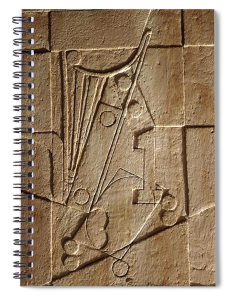 Sculptured Panel - Influenced By Picasso's Painting Having The Number 1 Spiral Notebook