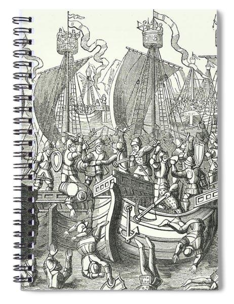 Sea Fight Off La Rochelle Spiral Notebook