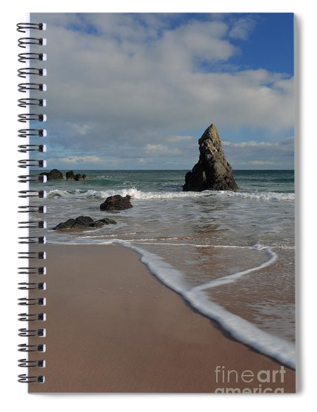 Sea Foam On Sango Bay Spiral Notebook