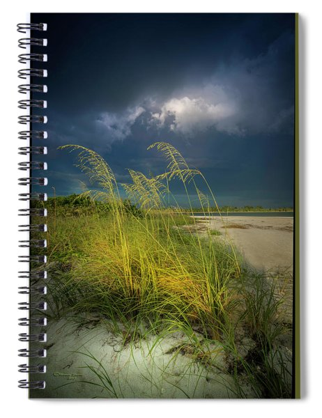 Sea Oats In The Storm Spiral Notebook