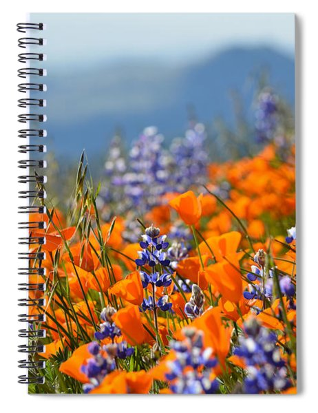 Sea Of California Wildflowers Spiral Notebook