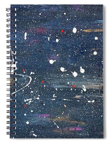 Spiral Notebook featuring the painting Sea Of Love by Michael Lucarelli