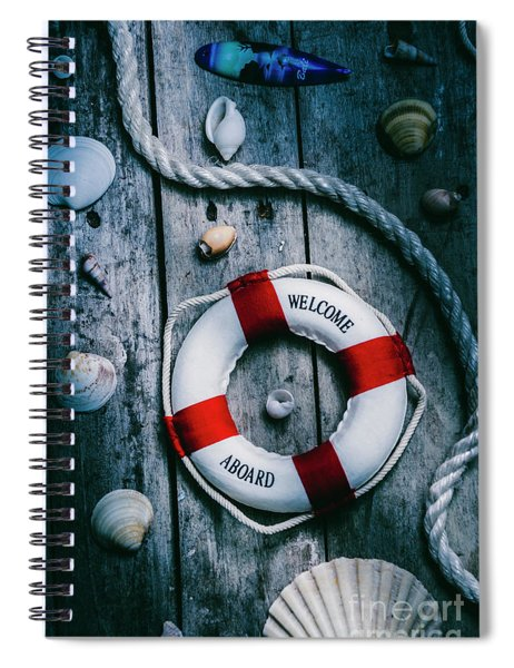 Sea Of Turbulence Spiral Notebook