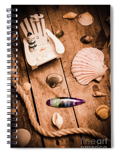Sea Shell Decking Spiral Notebook
