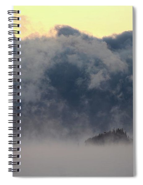 Sea Smoke At Owls Head Detail Spiral Notebook