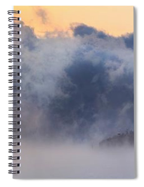 Sea Smoke At Owls Head Panorama Spiral Notebook