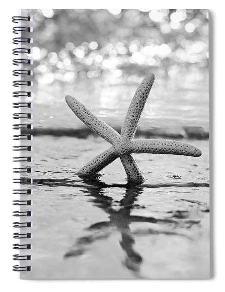 Sea Star Bw Spiral Notebook
