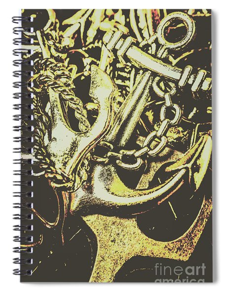 Sea Tides And Maritime Anchors Spiral Notebook