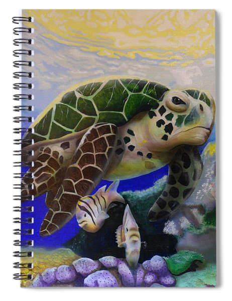 Sea Turtle Acrylic Painting Spiral Notebook