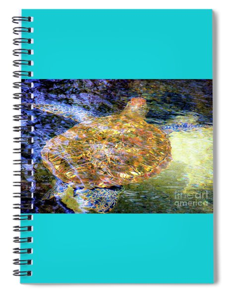 Sea Turtle In Hawaii Spiral Notebook
