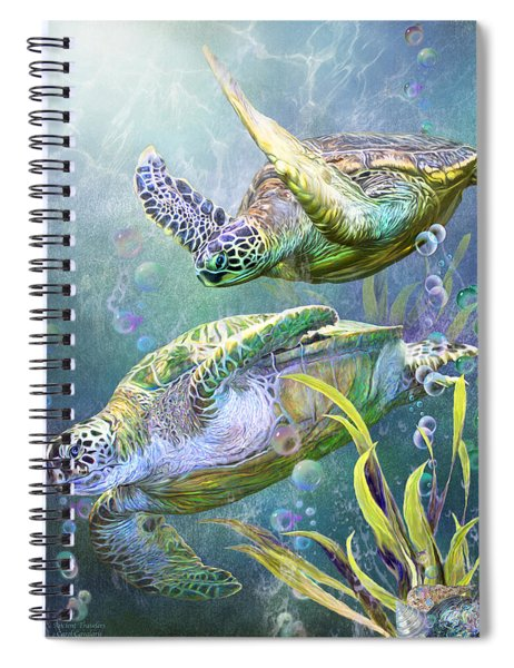 Sea Turtles - Ancient Travelers Spiral Notebook
