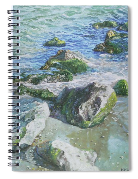 Sea Water With Rocks On Shore Spiral Notebook