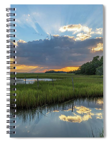 Seabrook Island Sunrays Spiral Notebook