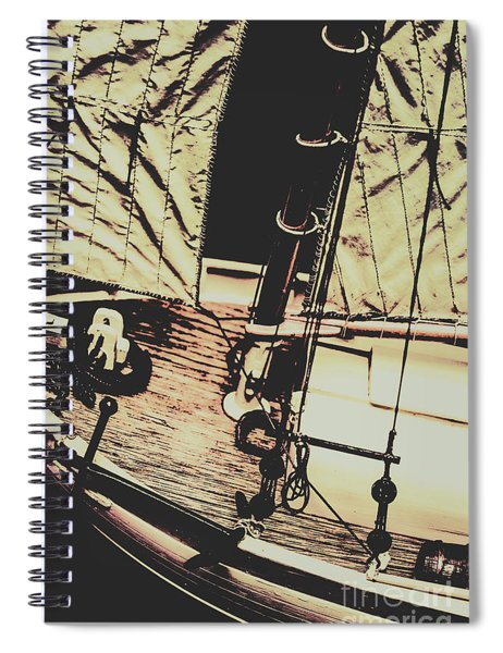 Seafaring Sails Spiral Notebook