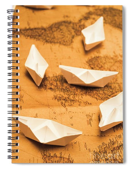 Seafaring The Seven Seas Spiral Notebook