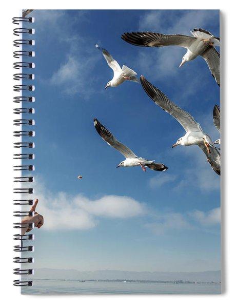 Seagull Flying Spiral Notebook by Pradeep Raja PRINTS