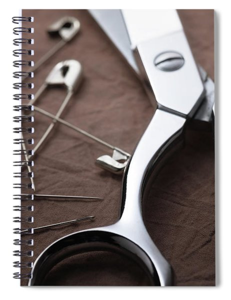 Seamstress Scissors Spiral Notebook