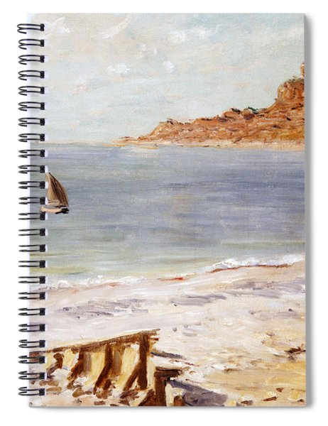 Seascape At Sainte Adresse  Spiral Notebook