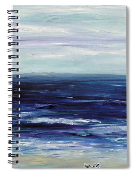 Seascape With White Cats Spiral Notebook