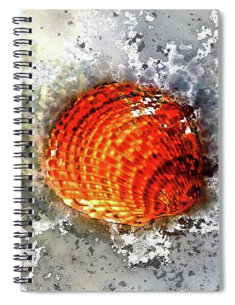 Seashell Art  Spiral Notebook