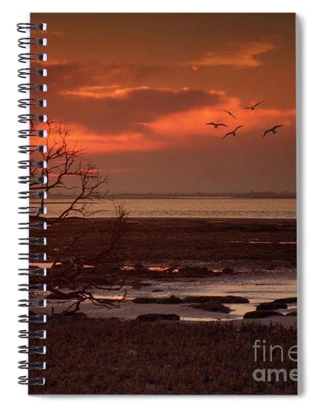 Seashore At Dawn Spiral Notebook