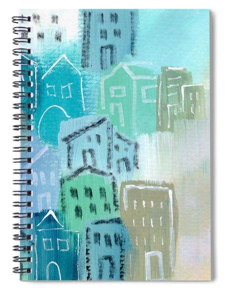 Seaside City- Art By Linda Woods Spiral Notebook