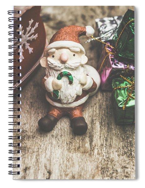 Seasons Greeting Santa Spiral Notebook