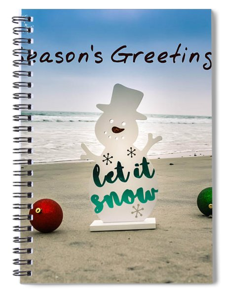 Spiral Notebook featuring the photograph Season's Greetings by Alison Frank