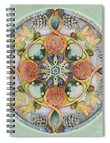 Seasons Mandala Spiral Notebook