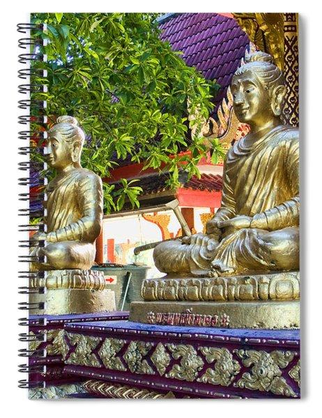 Seated Buddhas Spiral Notebook