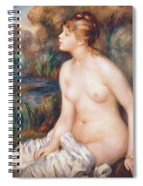 Seated Female Nude Spiral Notebook by Renoir