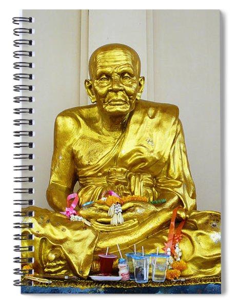Seated Holy Man At Koh Samui Spiral Notebook