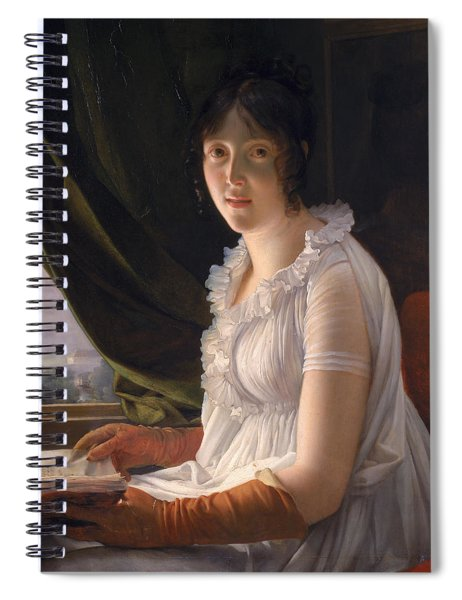 Seated Portrait Of Marie Philippe Claude Walbonne Spiral Notebook