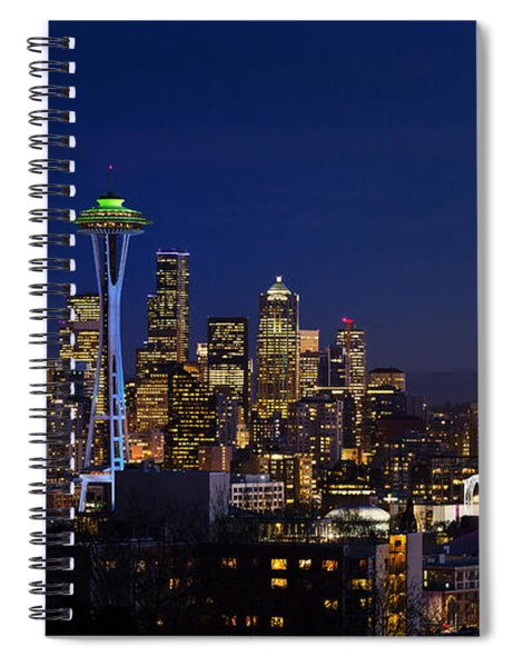 Seattle Seahawks Space Needle Spiral Notebook