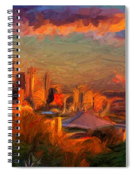 Seattle Sunset 1 Spiral Notebook