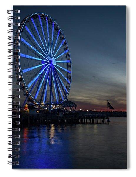 Seattle Sunset Spiral Notebook