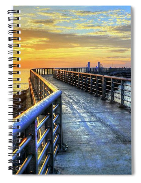 Sebastian Inlet Pier Along Melbourne Beach Spiral Notebook
