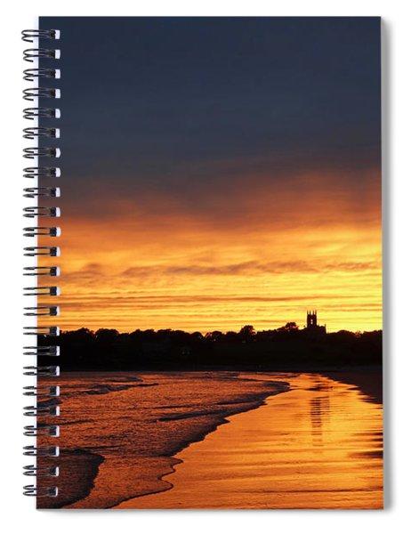 Second Beach Newport Ri Sunrays Spiral Notebook