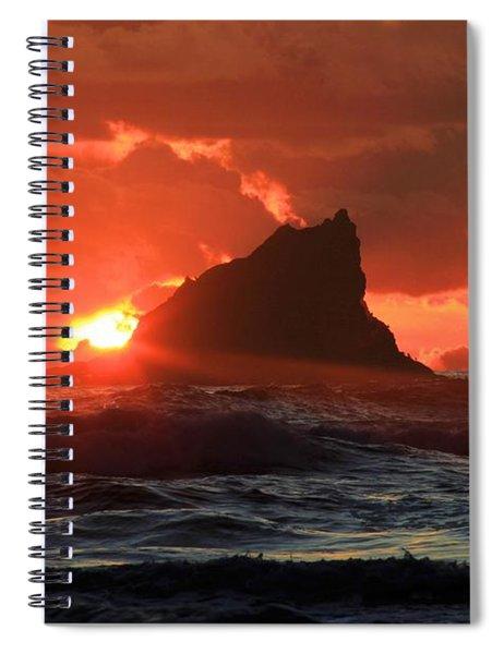 Second Beach Shark Spiral Notebook