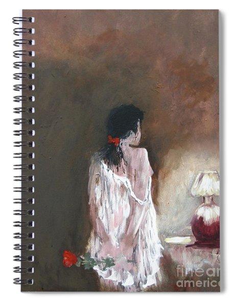 Secret Rose Spiral Notebook