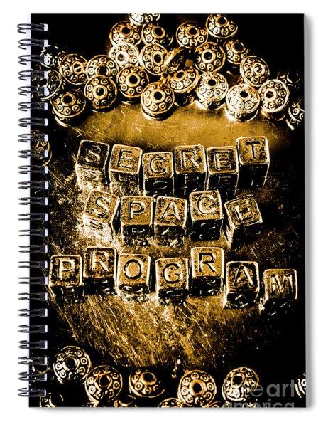 Secret Space Program Spiral Notebook
