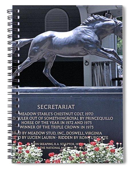 Secretariat Spiral Notebook