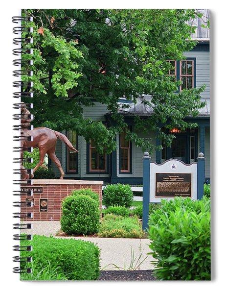 Secretariat Statue At The Kentucky Horse Park Spiral Notebook