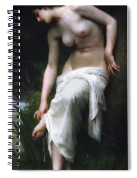 Secretly She Bathes At Night Spiral Notebook