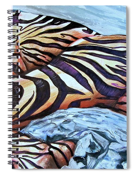 Seduction Of Stripes Spiral Notebook