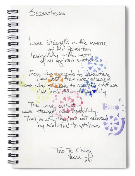 Seductions Of Tao Te Ching Spiral Notebook