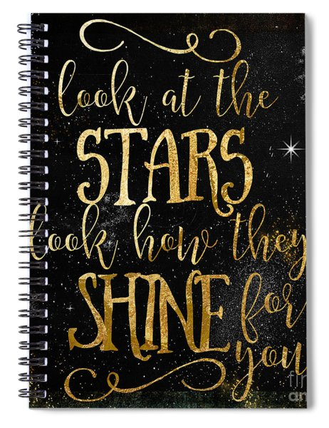 See How The Stars Shine Spiral Notebook